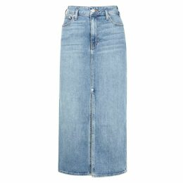Proenza Schouler Blue Stretch-denim Midi Skirt