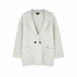 LINE Grey Striped Knitted Blazer