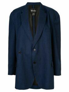 We11done oversized button blazer - Blue