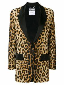 Moschino leopard print blazer - Brown