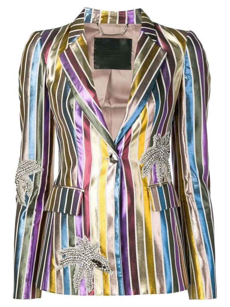 Philipp Plein striped blazer - Metallic