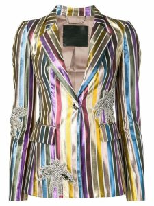 Philipp Plein striped blazer - Metallic