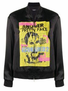 Dsquared2 punk print bomber jacket - Black
