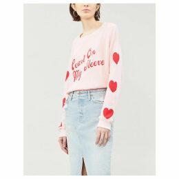 Heart on my Sleeve cotton-blend sweatshirt