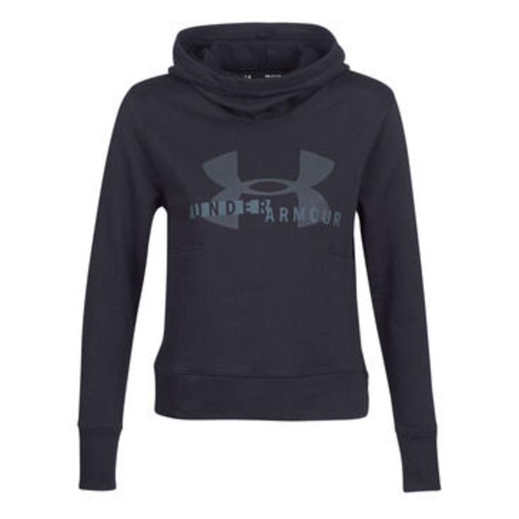 Under Armour  COTTON FLEECE SPORTSTYLE LOGO HOODIE  women's Sweatshirt in Black