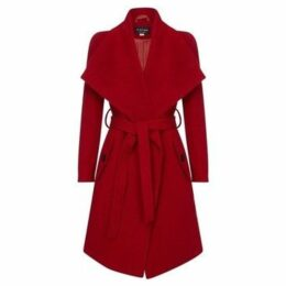 Anastasia  Winter Wool Cashmere Wrap Coat with Large Collar  women's Trench Coat in Red