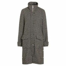 Anastasia  Women's Winter Herringbone Coat  women's Coat in Black