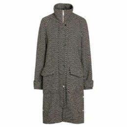 Anastasia  Women's Winter Herringbone Coat  women's Coat in Black