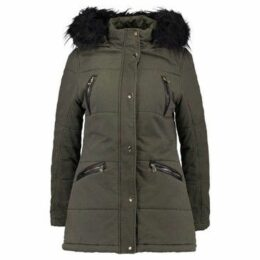 Anastasia  Women's Faux Fur Hooded Winter Parka, Khaki  women's Parka in Green