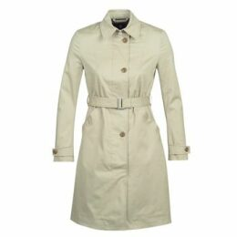 G-Star Raw  MINOR LONG SLIM TRENCH  women's Trench Coat in Green