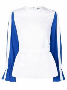 Kenzo contrast sleeve top - White