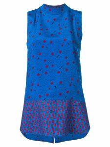 Marni sleeveless tunic blouse - Blue