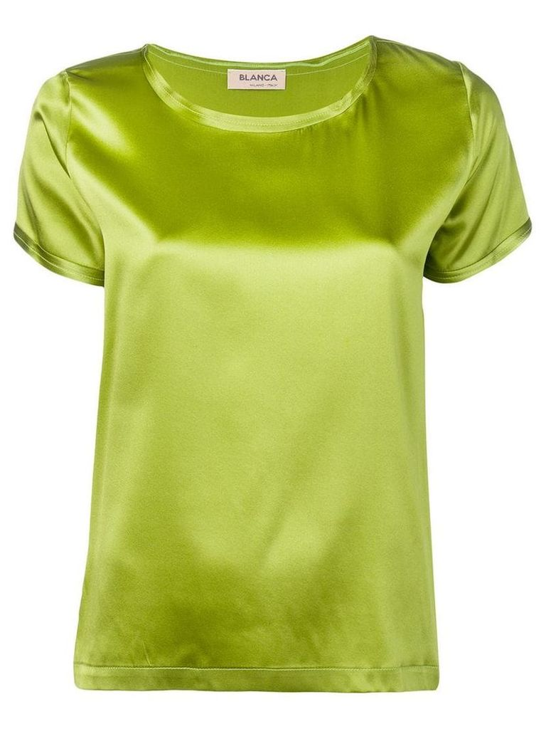 Blanca satin top - Green