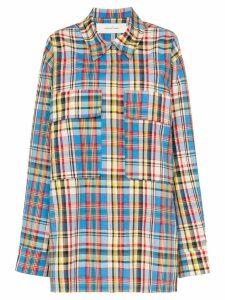 Marques'Almeida oversized checked raw hem shirt - Multicoloured