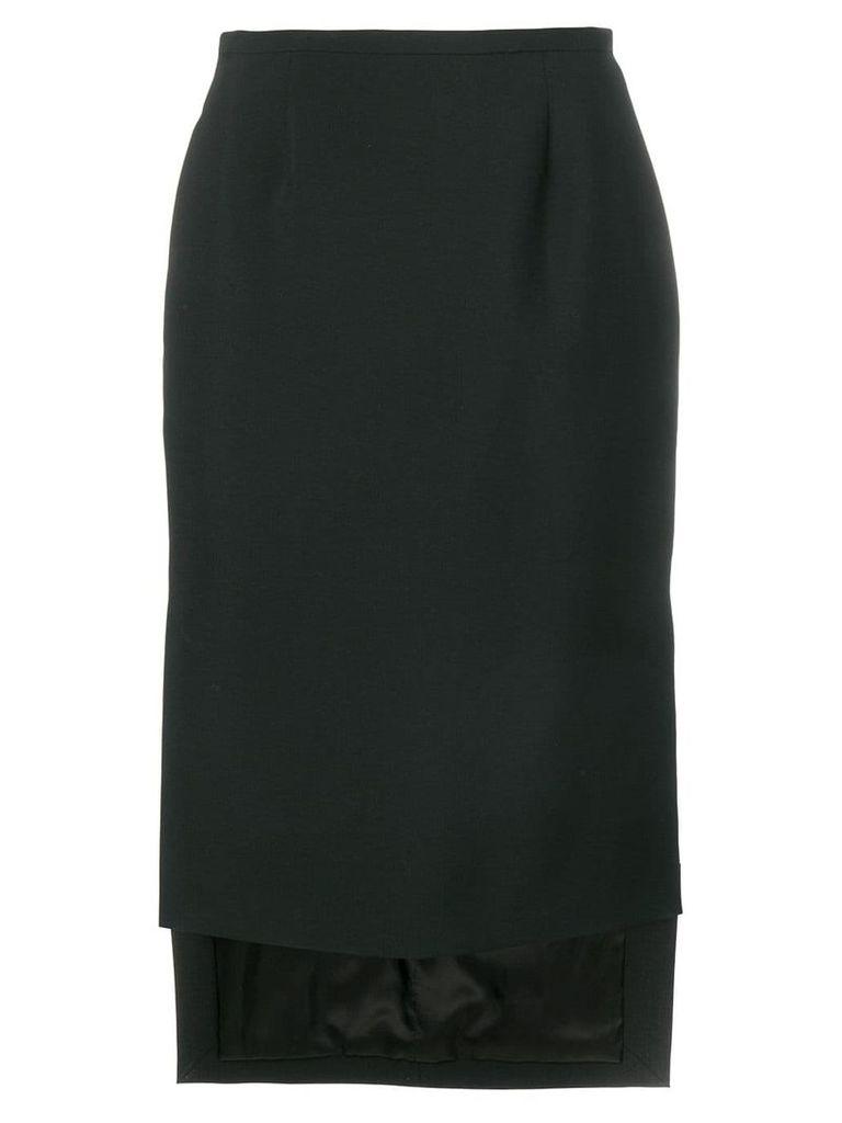 Rochas high low skirt - Black