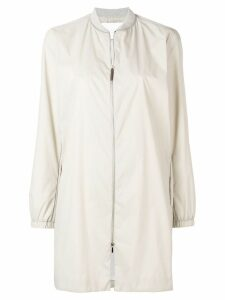 Fabiana Filippi zipped parka coat - Neutrals