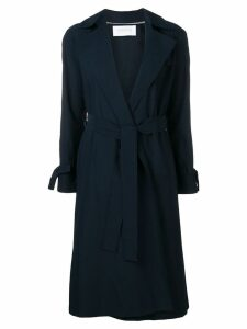 Harris Wharf London belted trench coat - Blue