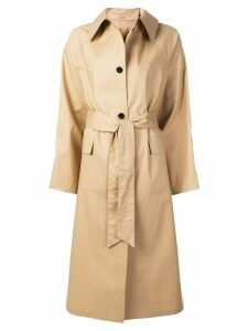 Kassl belted trenchcoat - Yellow