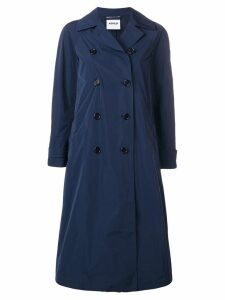 Aspesi double-breasted trench coat - Blue