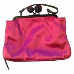 Silk clutch bag