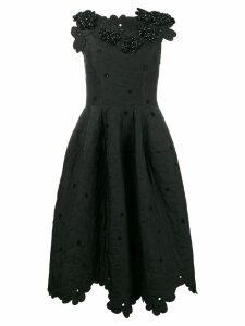 Simone Rocha Floral Cloque Dress - Black