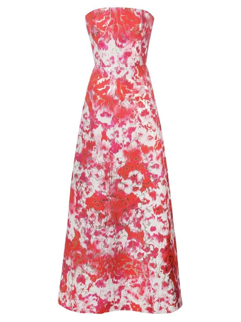 Carolina Herrera hibiscus print dress - White