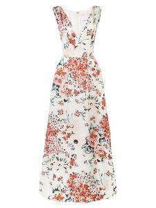 Carolina Herrera floral print evening dress - White