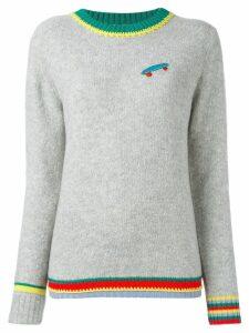 Ç By Mira Mikati skateboard patch jumper - Grey