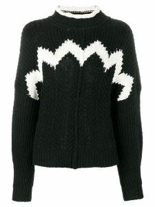 Isabel Marant detailed knit jumper - Black