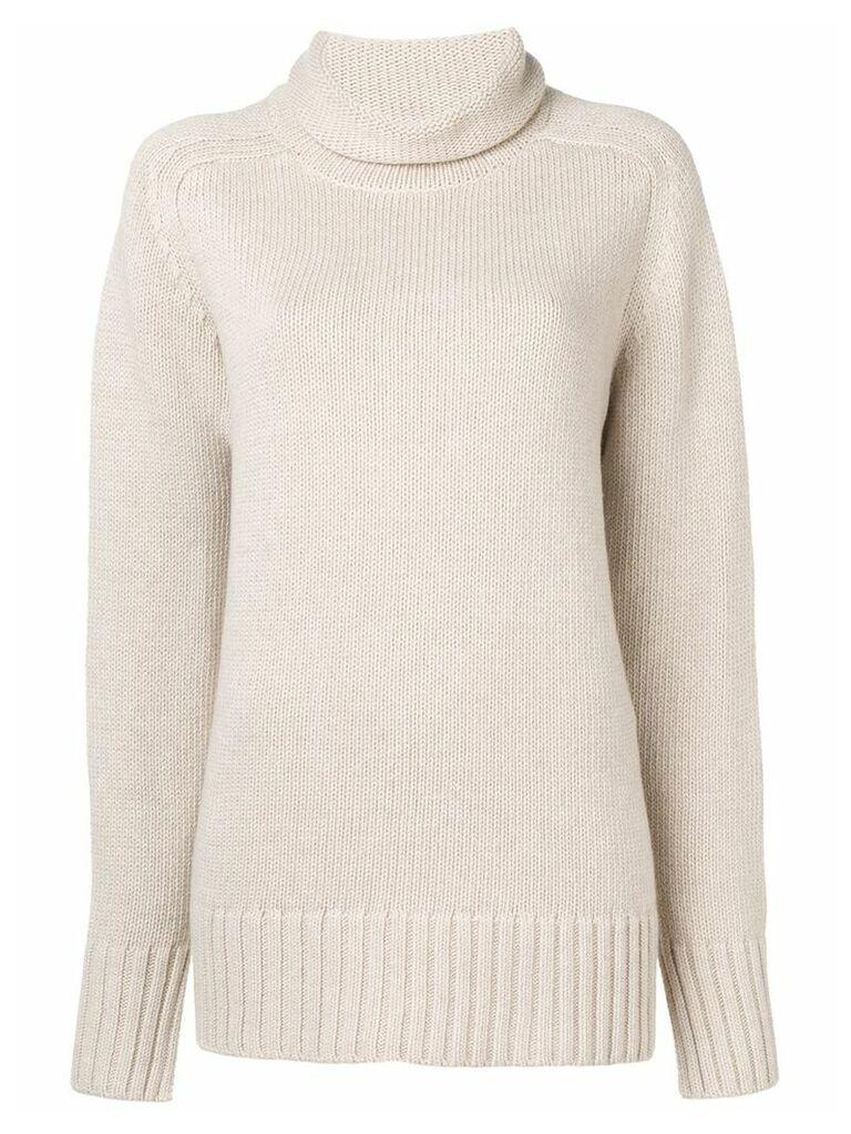 Joseph oversized roll neck knitted sweater - Neutrals