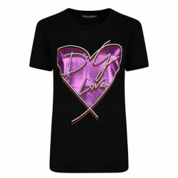 DOLCE AND GABBANA Heart Stamp T Shirt