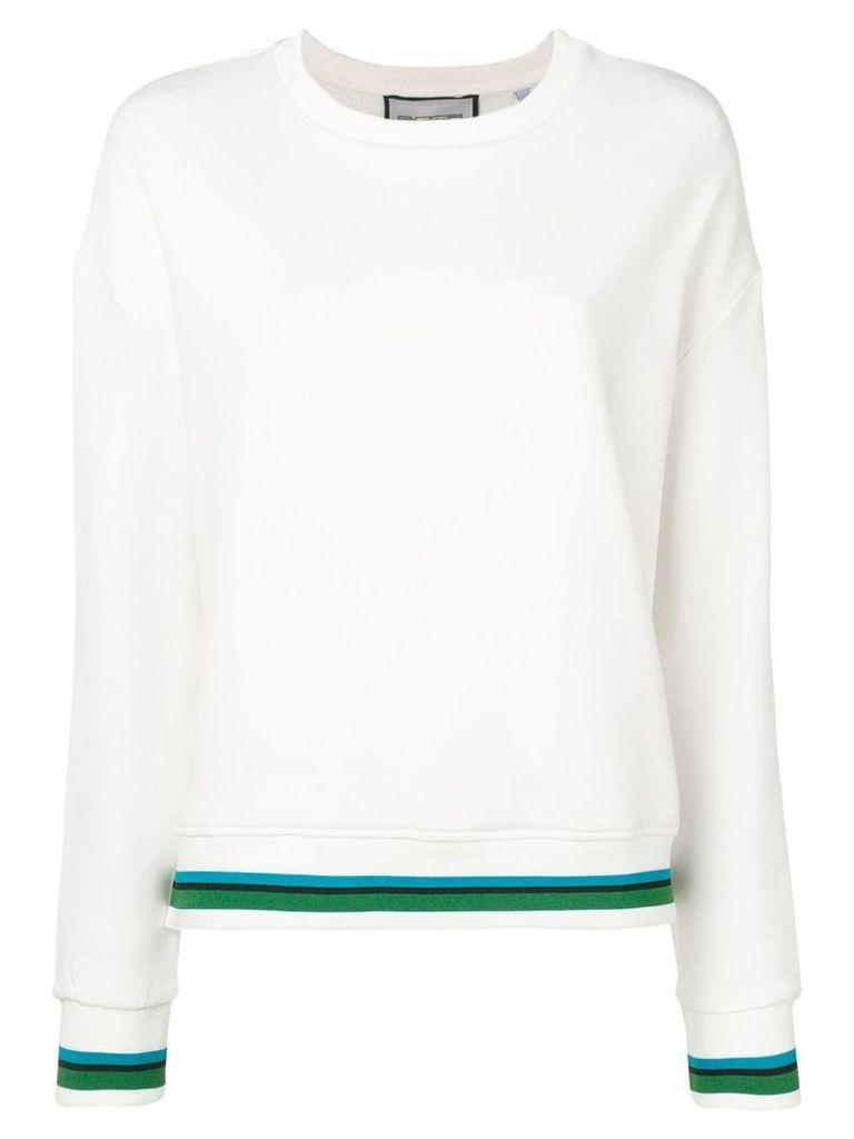 Roqa contrast trim sweatshirt - Neutrals