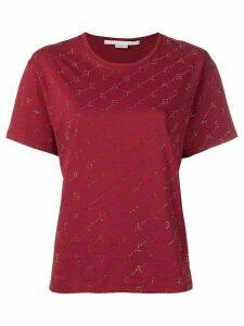 Stella McCartney embellished monogram T-shirt - Red