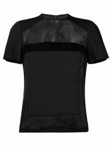 Dsquared2 lace panel tee - Black