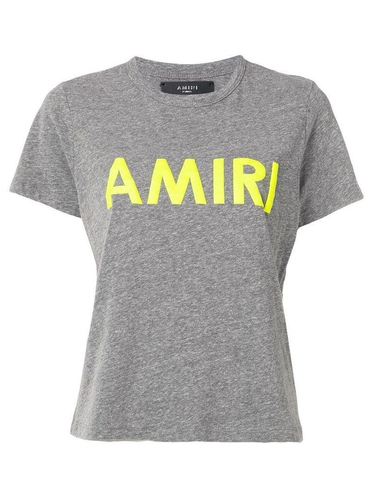 Amiri logo print T-shirt - Grey