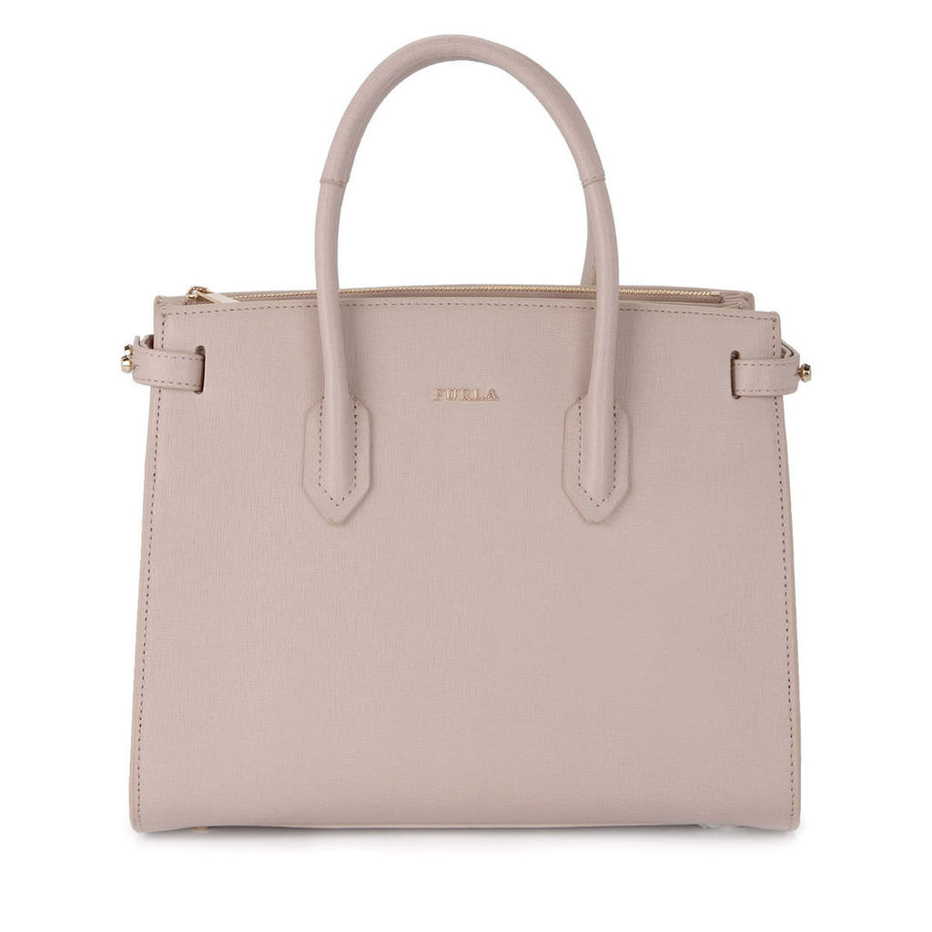 Furla Pin Pink Leather Handbag