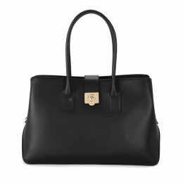 Furla Mira L Black Leather Handbag