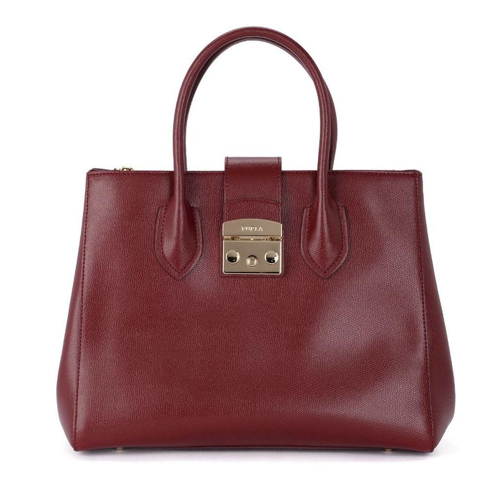 Furla Metropolis M Cherry Leather Handbag