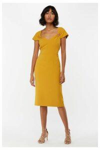 Womens Monsoon Ladies Yellow Sabrina Shift Dress -  Yellow