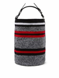 Colville - Striped Woven Bucket Bag - Womens - Red Multi