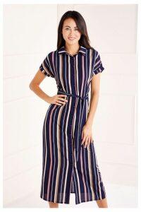 Womens Mela London Maxi Shirt Dress -  Blue