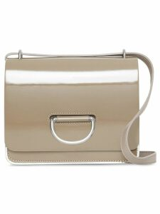 Burberry The Small Patent Leather D-ring Bag - Grey