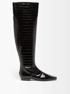 Herno - Quilted Down Filled Coat - Womens - Black