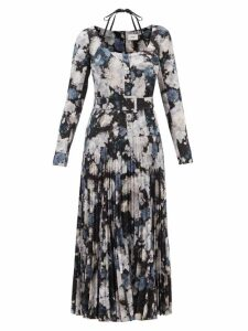 Charles Jeffrey Loverboy - Panelled Single Breasted Tartan Wool Blazer - Womens - Multi