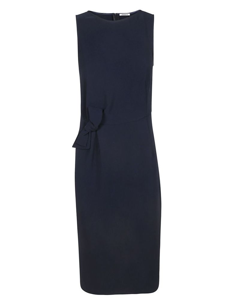 Parosh Bow-detailed Fitted Dress