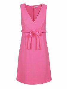 Parosh V-neck Sleeveless Dress