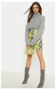 Grey Chunky Ribbed Knitted Jumper, Grey