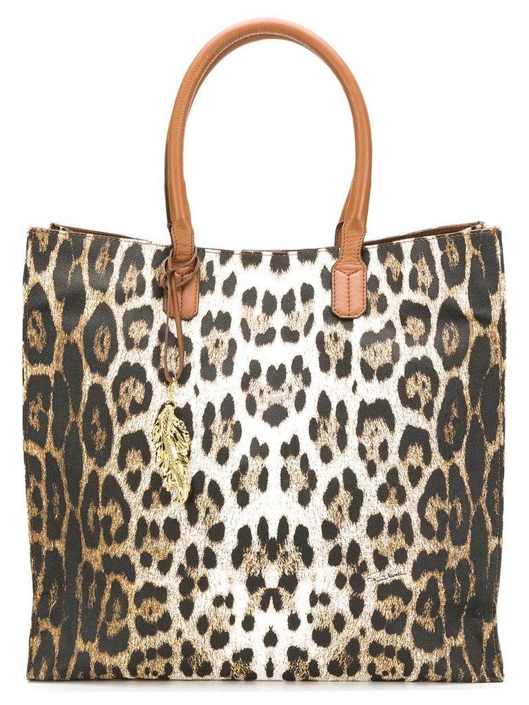 Roberto Cavalli leopard shopper bag - Brown