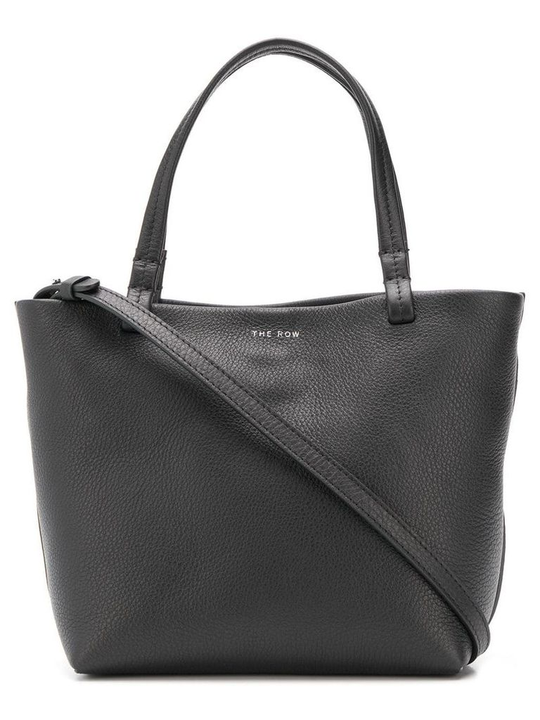 The Row pebbled texture tote - Black