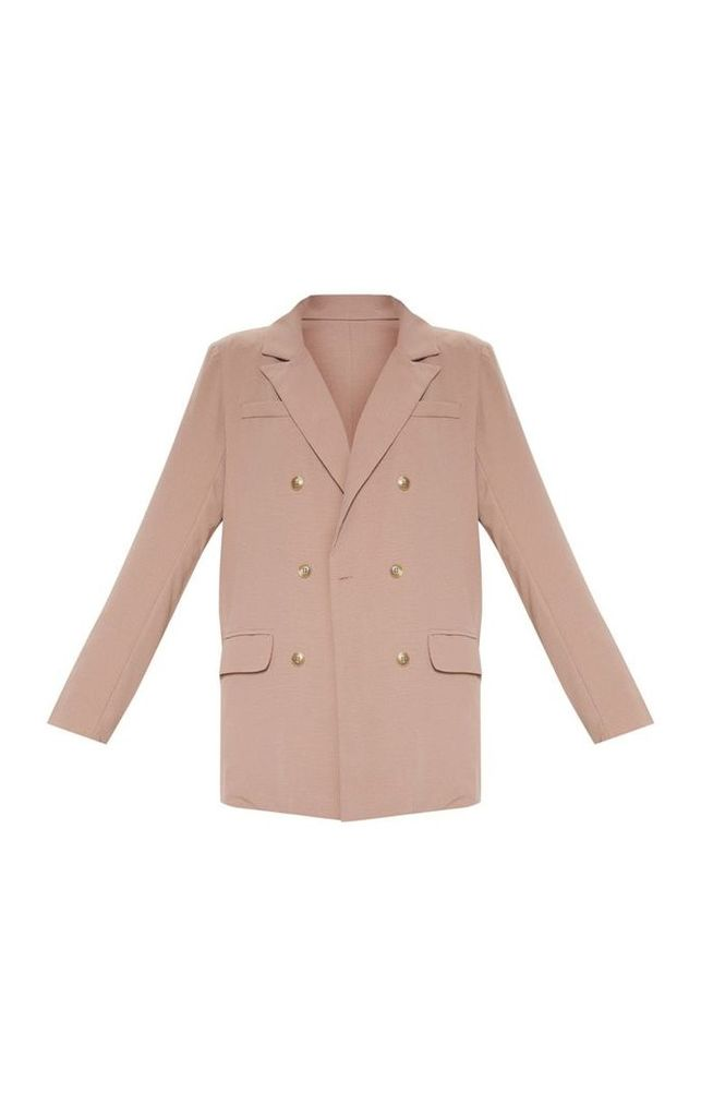 Camel Shoulder Padded Blazer, Camel